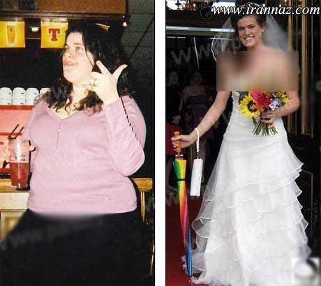 زنی که بخاطر لباس عروسی اش مانکن شد (عکس)