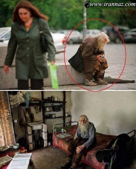 پیرمردی که با کارش همه شوکه کرد (عکس)