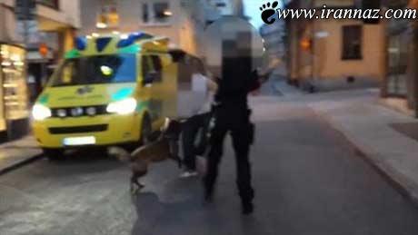 حرکت وحشیانه این پلیس زن در خیابان (عکس