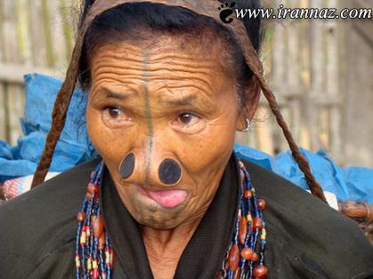 رسم باورنکردنی زنانه قبیله آپاتانی (عکس)
