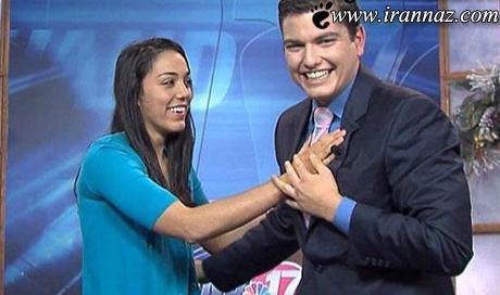 خواستگاری این مرد از عشقش در برنامه زنده (عکس)