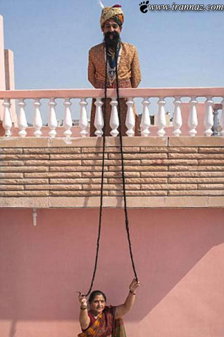 مردی با ریش بلندش رکورد گینس را شکست (عکس)