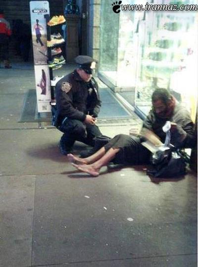کار این پلیس همه را متحیر کرد (عکس)