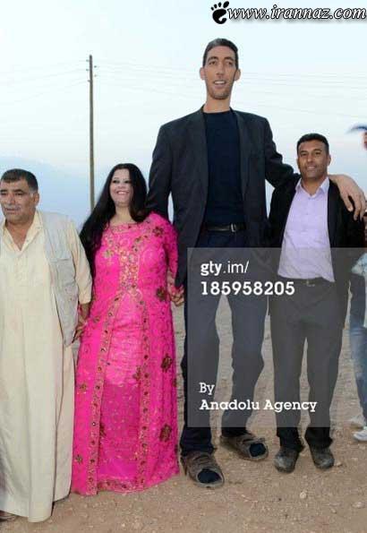 بلندترین مرد دنیا بالاخره ازدواج کرد (عکس)
