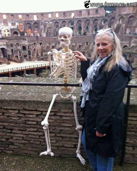 همسر استخوانی همه را شوکه کرد (عکس)