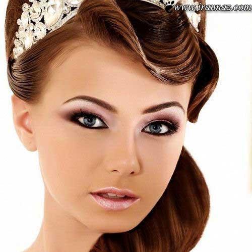 عکس هایی از مدل آرایش و شینیون موی عروس