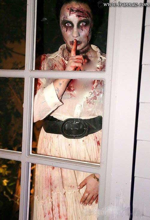 چهره دیدنی بازیگران مشهور در شب هالووین (عکس)