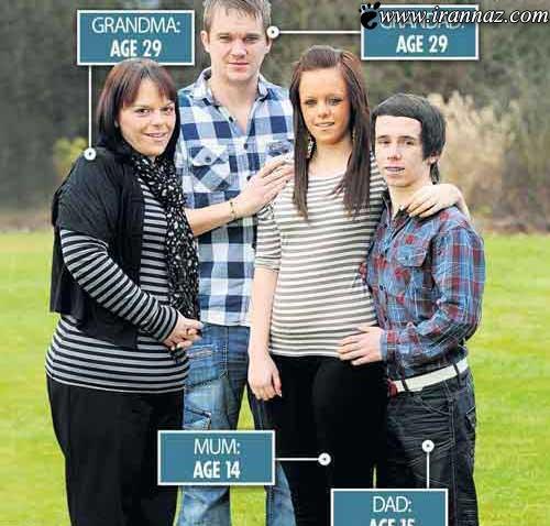 بارداری جنجالی این دختر در 14 سالگی (عکس)