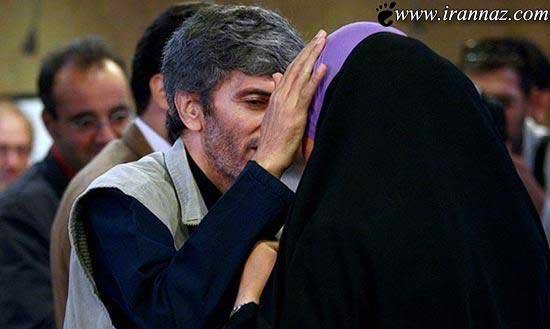 بوسه ی عاشقانه این زن بر دستان شوهرش (عکس)
