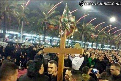 آوردن صلیب در بین الحرمین سوژه شد (عکس)