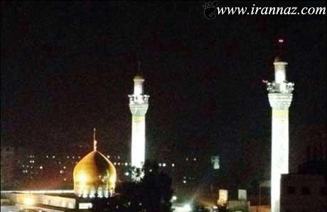 روشن شدن ناگهانی حرم حضرت زینب (ع) (عکس)