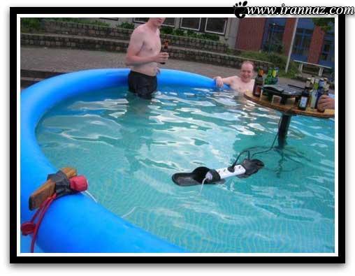 عکس هایی از کارهای احمقانه و خنده دار مردم دنیا