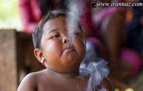 اعتیاد شدید این پسر 5 ساله به سیگار (عکس)
