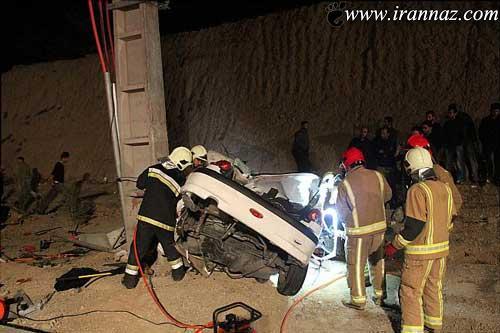 تصادف ناگوار این مادر و دختر در تهران (عکس)