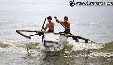 باورتان میشود این یخچال تبدیل به قایق شده؟ (عکس)