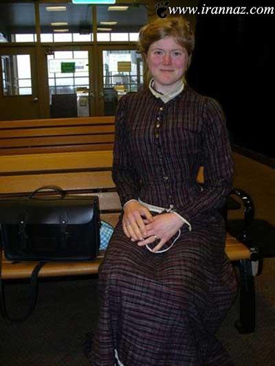 این زن از قرن 18 به این دنیا آمده است (عکس)
