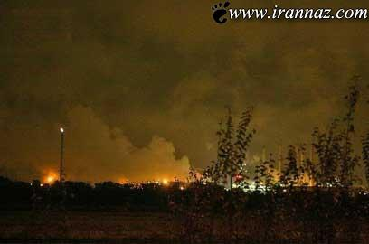 پالایشگاه شهید تندگویان در آتش سوخت (عکس)