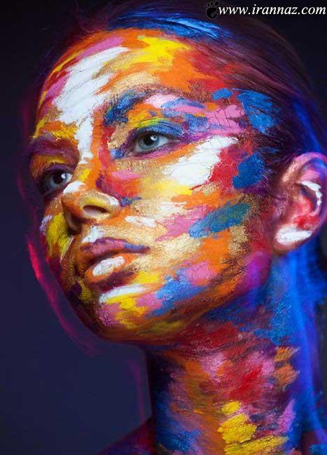 عکس هایی از نقاشی های خلاقانه بروی صورت