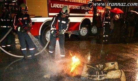این فرد در کمال بی رحمی همسرش را آتش زد (عکس)