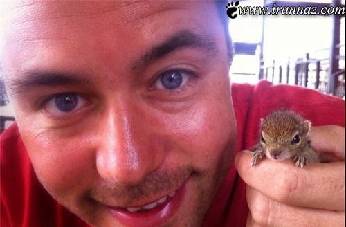 عکس هایی از نجات یک سنجاب همه را گریان کرد
