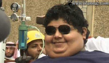 حمل سنگین وزن ترین پسر دنیا با جرثقیل (عکس)