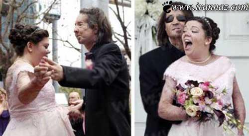 ازدواج جنجالی دو فرد وحشتناک با هم (عکس)