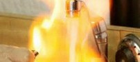 بیرون آمدن آتش از شیر آب عجیب و غریب (عکس)