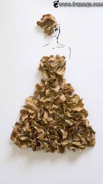 عکس های بی نظیری از لباسهایی از جنس گل