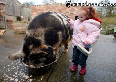 عکس های کمیاب از کوچکترین دختر دنیا (عکس)