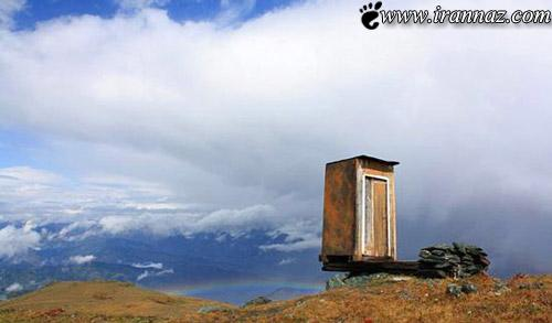 حاضرید در ارتفاع 2600 متری دستشویی بروید (عکس)