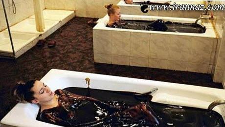 حمام در نفت خام مختص افراد ثروتمند (عکس)