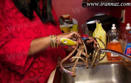 این زن با ناخن هایش همه را می ترساند (عکس)