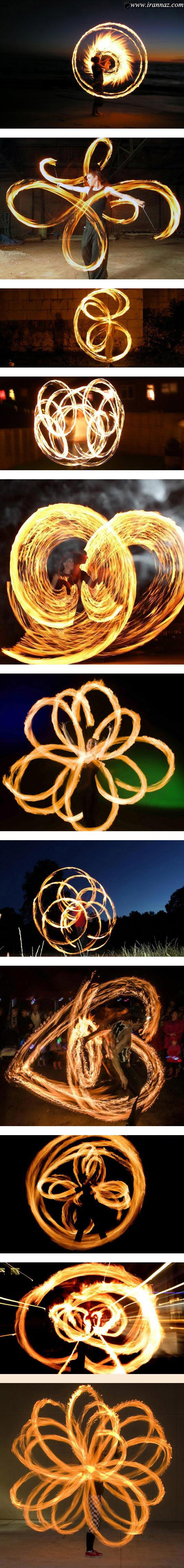 عکس های حیرت آور از آتش بازی در شب