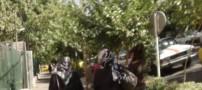 عکس شرم آور این دختر بی حجاب در تهران