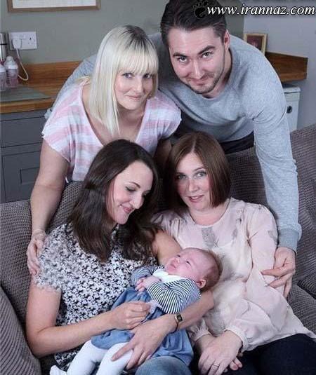 این نوزاد زیبا دارای سه مادر است؟ (عکس)
