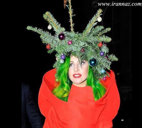 لیدی گاگا درخت کریسمس میشود (عکس)