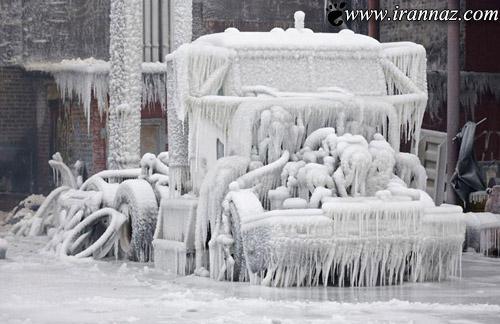 عکس های ترسناک از شهر یخ زده