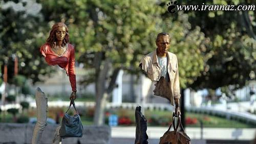 عکس هایی از مجسمه های غیرمعمولی بسیار جالب