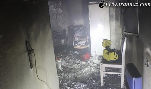 آتش سوزی عجیب اتاق خواب این زوج (عکس)