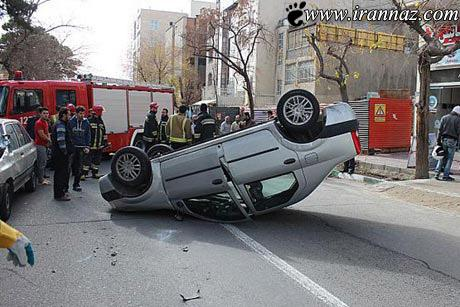 The strange girl was driving Thrvny subject Photos رانندگی عجیب دختر تهرونی سوژه شد (عکس)