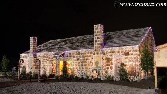 این خانه ی زیبا با نان زنجبیلی درست شده (عکس)