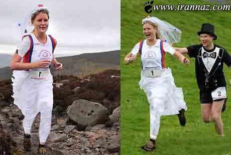 برگزاری عروسی باشکوه با مسابقه دو (عکس)