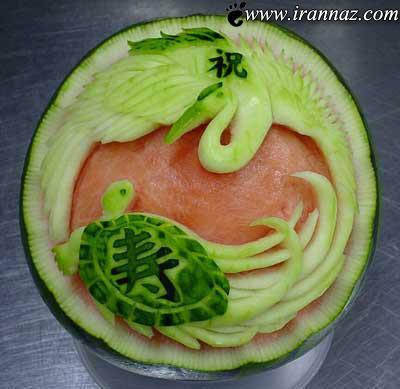 عکس هایی از تزیین هندوانه شب یلدا