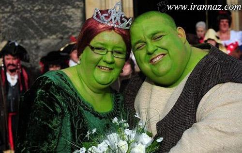 شرک و فیونای واقعی بالاخره ازدواج کردند (عکس)