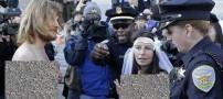 ازدواج بی شرمانه ی این زوج در خیابان (عکس)