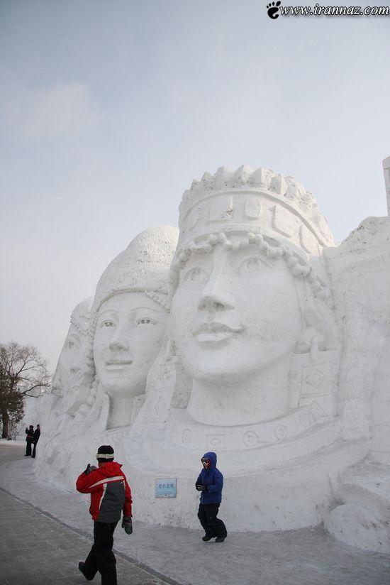 عکس هایی از هنر نمایی زیبا و خارق العاده با برف