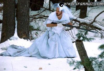 عکس هایی از خلاقیت این مردان با لباس عروس