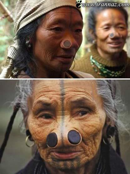زنان این قبیله زشت ترین بینی های جهان را دارند!!