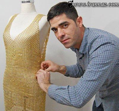 دوخت لباس هایی از جنس طلا برای خانم ها (عکس)
