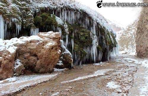 تصاویر بسیار جالب و حیرت انگیز از یک آبشار یخ زده!!